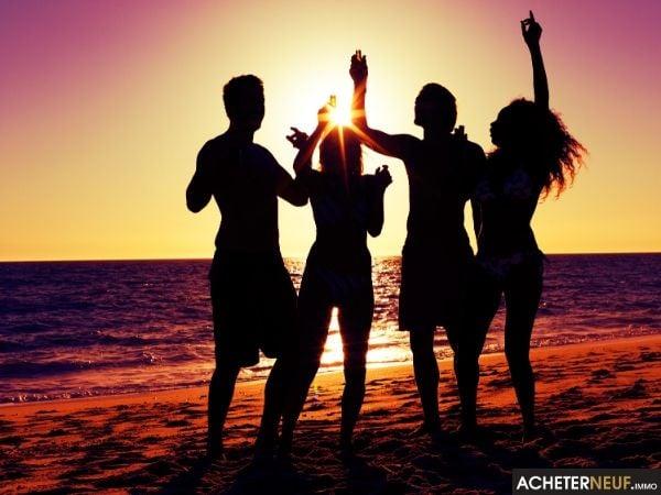 Coucher de soleil plage Saint-Pierre