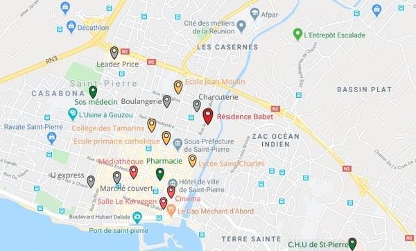 MAPS saint-pierre - résidence-babet